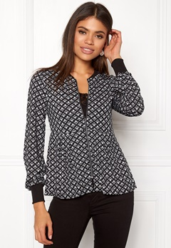 Happy Holly Fannie jacket Black / Offwhite Bubbleroom.dk