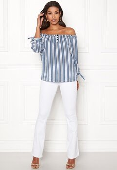 Happy Holly Fanny blouse Striped Bubbleroom.dk