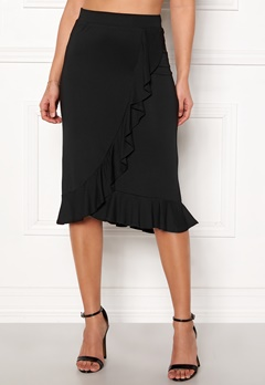 Happy Holly Farah midi skirt Black Bubbleroom.dk