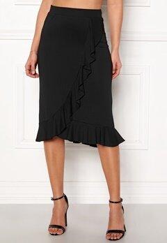 Happy Holly Farah midi skirt Black Bubbleroom.dk