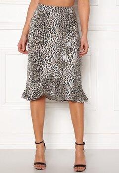 Happy Holly Farah midi skirt Leopard Bubbleroom.dk