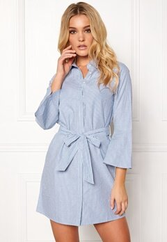 Happy Holly Filippa shirt dress Striped Bubbleroom.dk