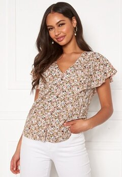 Happy Holly Fiona blouse Light pink / Patterned Bubbleroom.dk