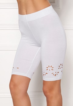 Happy Holly Flora Bike pants White Bubbleroom.dk