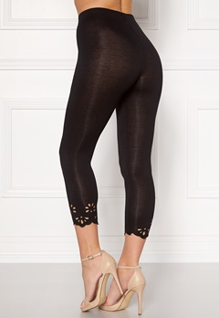 Happy Holly Flora Crop leggings Black Bubbleroom.dk