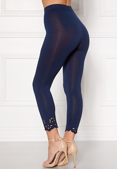 Happy Holly Flora Crop leggings Navy Bubbleroom.dk