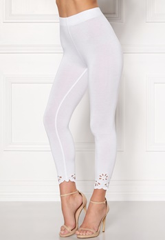 Happy Holly Flora Crop leggings White Bubbleroom.dk
