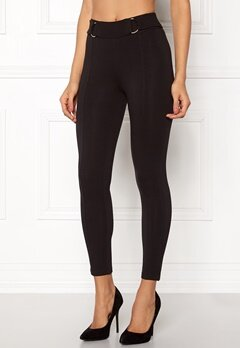 Happy Holly Franny tricot pants Black Bubbleroom.dk