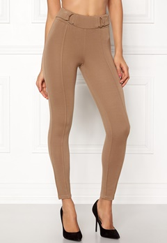 Happy Holly Franny tricot pants Camel Bubbleroom.dk