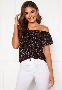 Happy Holly Fredrika singoalla blouse Black / Patterned Bubbleroom.dk