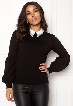 Happy Holly Gaby sweater Black Bubbleroom.dk