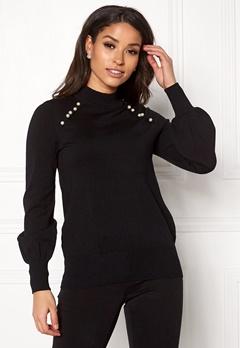 Happy Holly Genette sweater Black Bubbleroom.dk