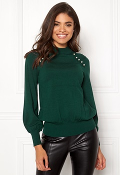 Happy Holly Genette sweater Dark green Bubbleroom.dk