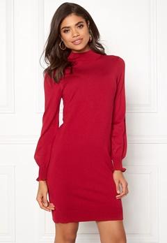 Happy Holly Haddie sweater dress Red Bubbleroom.dk