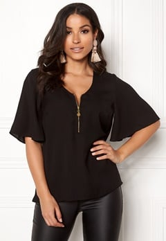 Happy Holly Hallie blouse Black Bubbleroom.dk