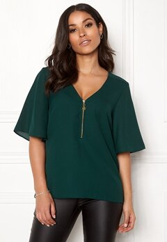 Happy Holly Hallie blouse Dark green Bubbleroom.dk