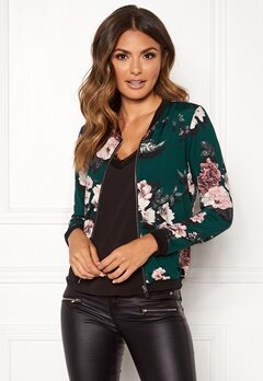 Happy Holly Hanna jacket Dark green / Patterned Bubbleroom.dk
