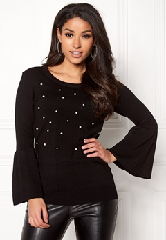 Happy Holly Hannie sweater Black Bubbleroom.dk