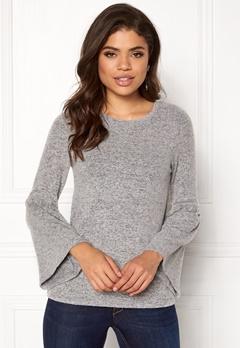 Happy Holly Hattie sweater Grey melange Bubbleroom.dk