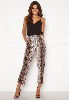Happy Holly Hazel tricot pants Animal print Bubbleroom.dk