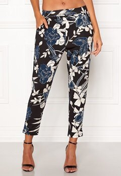 Happy Holly Hazel tricot pants Black / Patterned Bubbleroom.dk