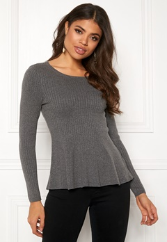 Happy Holly Henrietta sweater Grey melange Bubbleroom.dk