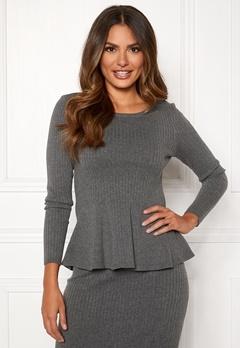 Happy Holly Henrietta sweater Grey melange Bubbleroom.dk