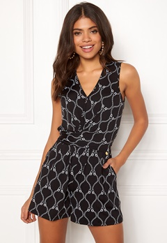 Happy Holly Iman playsuit Black / Patterned Bubbleroom.dk