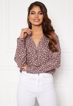 Happy Holly Iris blouse Dusty pink / Beige Bubbleroom.dk