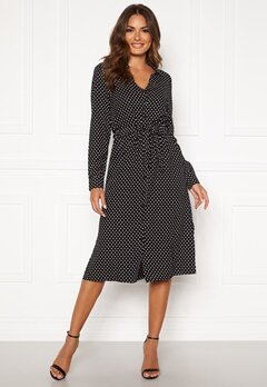 Happy Holly Iris Shirt dress Black / Dotted Bubbleroom.dk