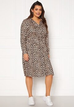 Happy Holly Iris Shirt dress Leopard Bubbleroom.dk