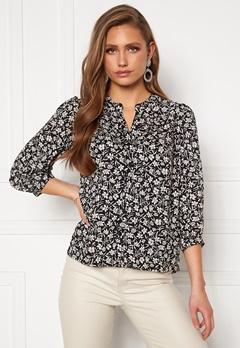 Happy Holly Isabella blouse Black / Patterned Bubbleroom.dk