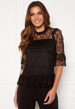Happy Holly Isabella lace top Black Bubbleroom.dk