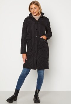 Happy Holly Isabelle Quilted Coat Black bubbleroom.dk
