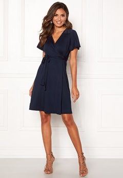5e8ab941bd4e Happy Holly Ivy wrap dress Dark blue Bubbleroom.dk