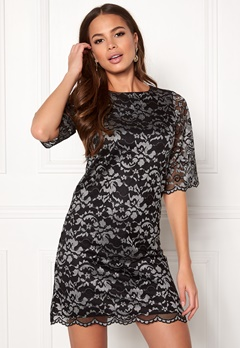 Happy Holly Jade lace dress Black / Light grey Bubbleroom.dk