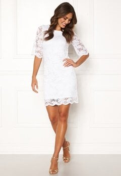 Happy Holly Jade lace dress White Bubbleroom.dk