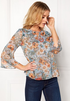 Happy Holly Janelle blouse Blue / Patterned Bubbleroom.dk