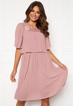 Happy Holly Jannica midi dress Dusty pink Bubbleroom.dk