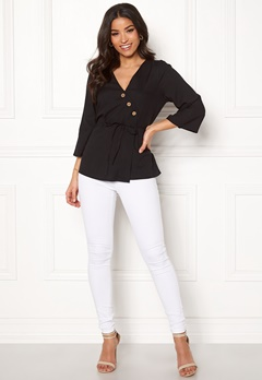 Happy Holly Jasmine blouse Black Bubbleroom.dk
