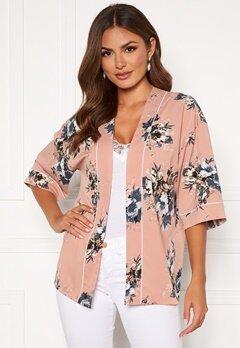 Happy Holly Jelena kimono blouse Pink / Patterned Bubbleroom.dk