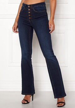 Happy Holly Josie bootcut jeans Dark denim Bubbleroom.dk