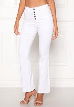 Happy Holly Josie bootcut jeans White Bubbleroom.dk