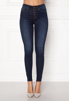 Happy Holly Josie jeans Dark denim Bubbleroom.dk
