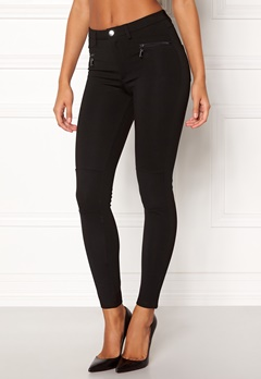 Happy Holly Justina tricot pants Black Bubbleroom.dk
