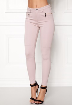 Happy Holly Justina tricot pants Dusty pink Bubbleroom.dk