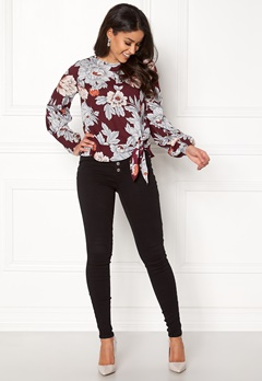 Happy Holly Kacy blouse Wine-red / Patterned Bubbleroom.dk