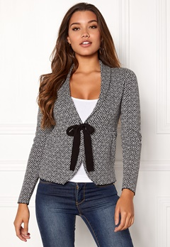 Happy Holly Kara cardigan Black / Offwhite Bubbleroom.dk