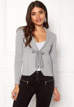 Happy Holly Kara cardigan Grey / Offwhite Bubbleroom.dk
