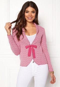 Happy Holly Kara cardigan Pink / Offwhite Bubbleroom.dk